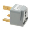 UK Plug to Universal US EU AU AC Travel Power Adapter Converter Gray