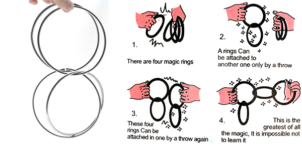 Magic Trick Performing Magician Rings Silver Surprise