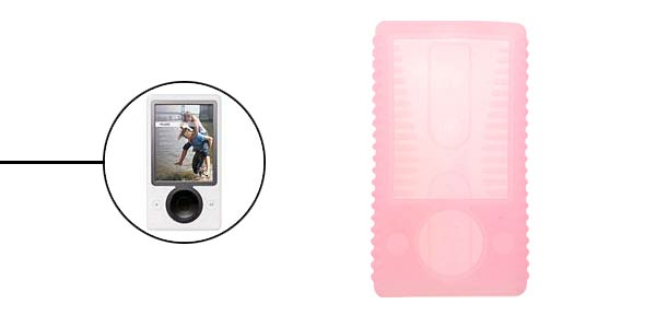 Silicone Skin Case Cover For Microsoft Zune 30GB - Pink@