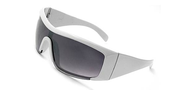 White Frame Tinted Lenses Capri Elegant Lady Sunglasses