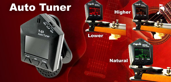 Musical Instruments Clip Style Auto Violin Bass Guitar Tuner (T-23)