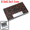 Elegant Metal Business Cards Holder Coated Leather