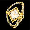 Rhombus Face Bangle Ladies Quartz Wrist Watches Bracelet