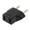 US to 2 Pin EU German AC Travel Power Adapter Plug Converter Blac...
