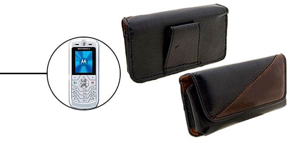 Faux Leather Case Holder for Motorola L6 - Black