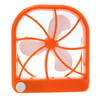 Adjustable Desktop USB Fan (HW-2313) Orange White