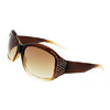 Glamour Amber Ladies Sun Glasses with Simulated Crystal (E21)