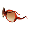 A GO GO Red with Black Ladies Sun Glasses (B749)