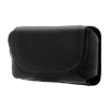 Faux Leather Case Holder for Nokia E61 Black