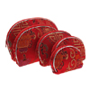 5 In 1 Exquisite Ladies Embroider Wallet Dressing Prink Handbag-Red
