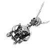 Fashion Jewelry Double Skull Pendant Necklace