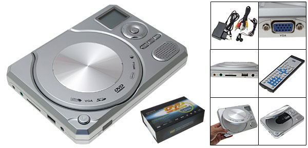Compact DVD Player With Remote Control  - white