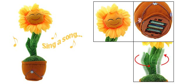 Special Singing Dancing Animated Sunflower With Music