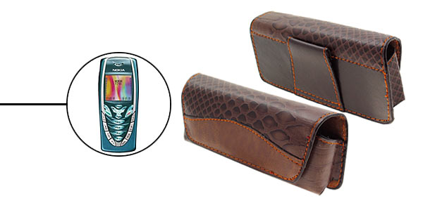 Horizontal Leather Case Holder for Nokia 7210