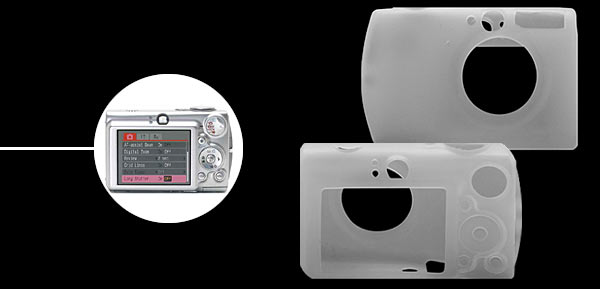 Silicone Skin Case for Digital Camera Canon IXUS 750 - Transparent White