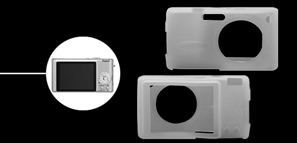 Silicone Skin Case for Digital Camera Panasonic FX8/9/01-Transparent White