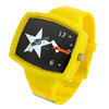 Fashion Jewelry Lovely Children with Black Motif Yellow Band Wris...