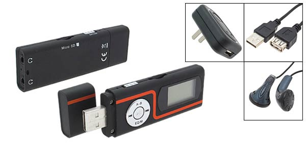 Dual Earphones LCD MP3 Player T-Flash Card Reader