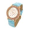 New Crystal Plated Quartz Wrist Watch Blue Wristband