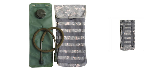 Army Military Water Bottle Jug w. Bag@