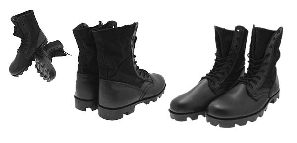 Black Military Speedlace Combat Boots - NEW Size 9R@