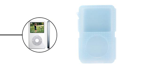 Silicone Skin Case for Ipod Video - Light Blue@
