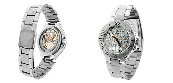 Fashion Jewelry Dragon Stainless Steel Mechancial Quartz Watch
