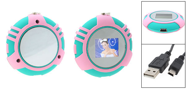 Portable 0.9 Inch LCD Photo Frame Album Clock@