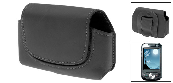 Leather Case Holder for O2 Atom - Black