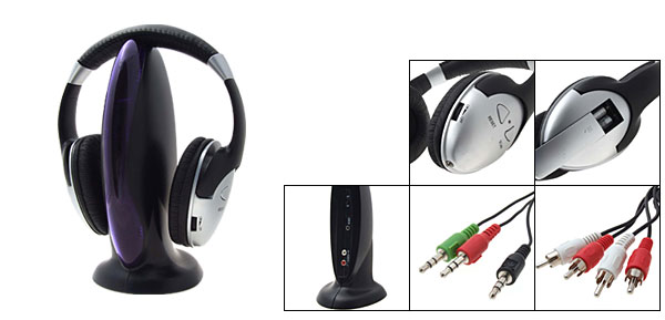 3in1 FM Hi-Fi Cordless Wireless Audio Headset Headphone
