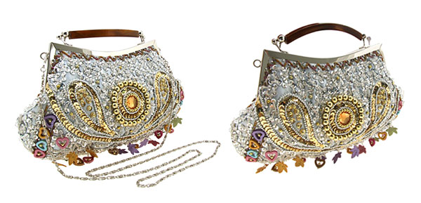 Fashion Jewelry Deluxe Ladylike Handbag with Beads & Sequins