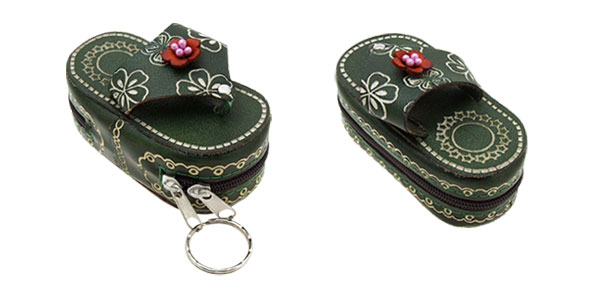 Keyring Slipper & Sandals Flip-flop Wallet Coin Purse