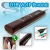 USB VoIP Phone for Skype Yahoo MSN GTalk + SD/MMC Reader - burgun...