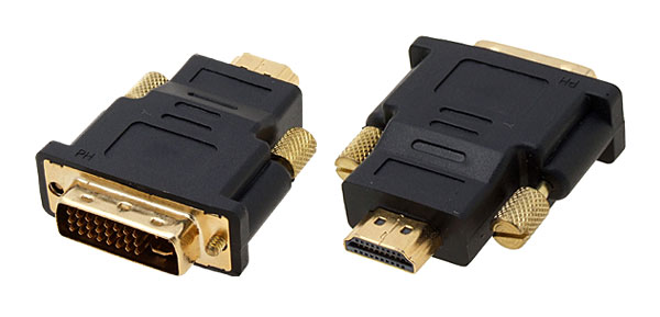 TV DVI-I Dual Link Male To HDMI Male Converter Plug