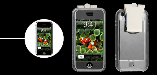 Crystal Plastic Protective Cover Case w Clip for Apple iPhone 1st Gen