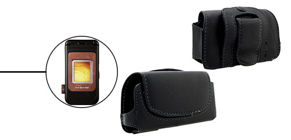 Faux Leather Case Holder for Nokia 7390 Black