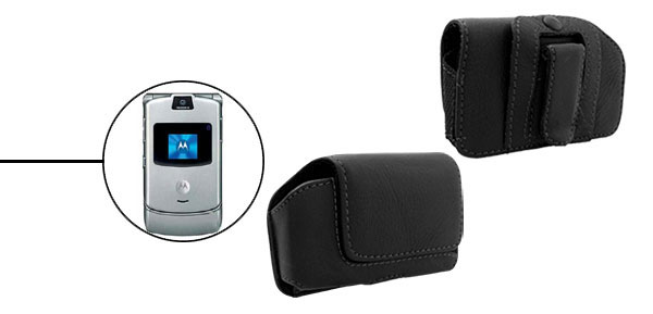Faux Leather Case Pouch Holder for Motorola V3