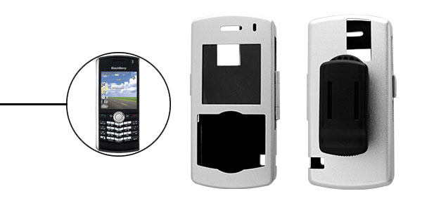 Cell Phone Protector Aluminium Case w.Clip for Blackberry 8100