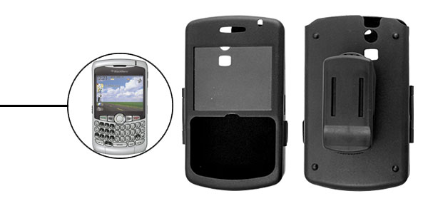Cell Phone Protector Aluminium Case w.Clip for Blackberry 8300