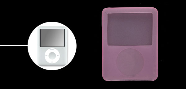 Protective Silicone Skin Case for iPod Nano 3G Pink