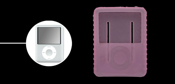 Protective Anti-slip Silicone Skin Case for iPod Nano 3G Pink