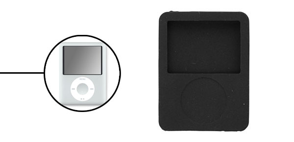 Protective Silicone Skin Case for iPod Nano 3G Black
