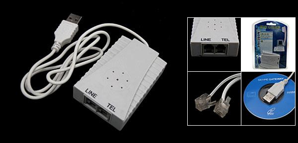 USB Skype Gateway Skype Telephone Converter