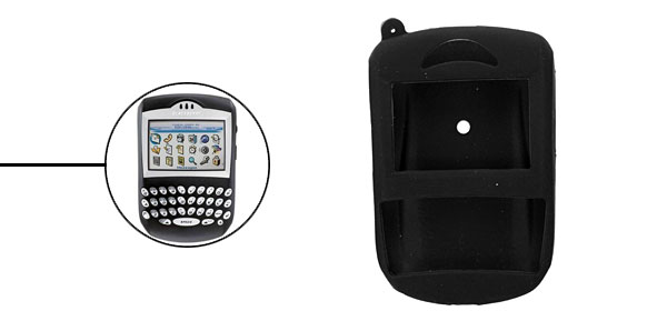 Silicone Skin Protector Case for Blackberry 7290- Black