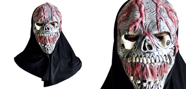 Horrible Skull Killer Latex Halloween Mask