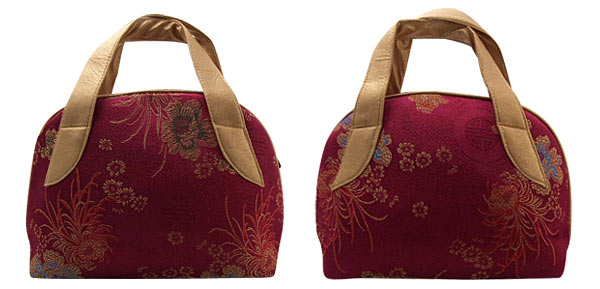 Classic Chinese Silk Satin Embroidery Brocade Lady Hand Bag