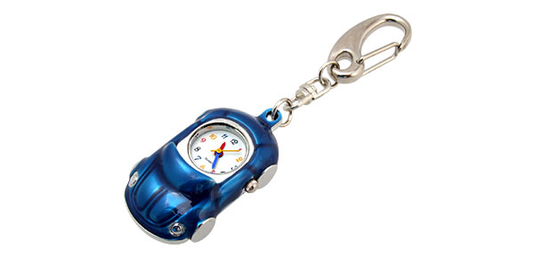 Mini Key Ring Deluxe Car Pednat Quartz Watch Clock