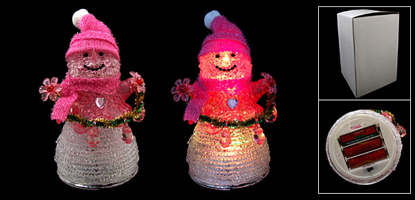 NEW Santa Claus Color Flash Light Lamp