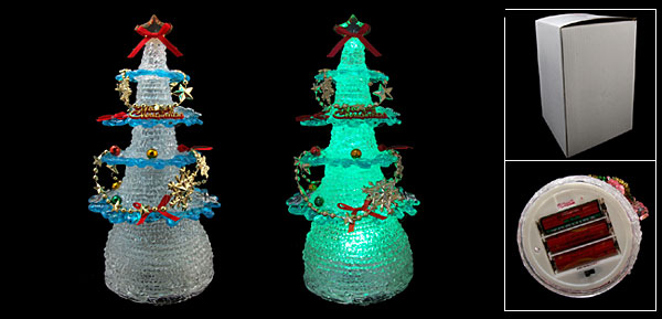 NEW Christmas Tree Color Flash Light Lamp