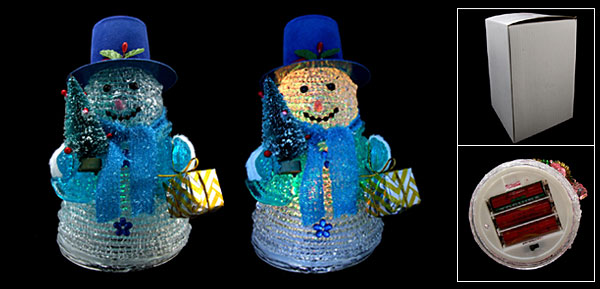 NEW Christmas Snowman Color Flash Light Lamp